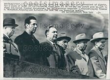 1964 Algeria President Ahmed Ben Bella Watches May Day Parade USSR Press Photo