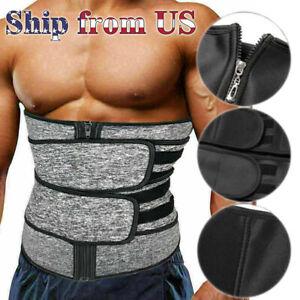 Men Waist Trainer Body Training Shaper Sweat Belt Tummy Control Cincher Girdle