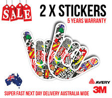 2 x SHOCKER HAND BOMB JDM Sticker, Car sticker for turbo, fast cars 160mmx110mm