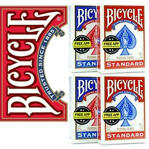 4 Decks Bicycle US Standard Playing Cards Card Sealed Poker 2 Red 2 Blue 2021