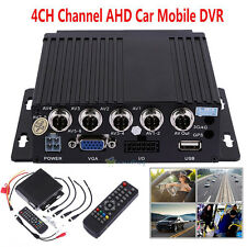 SW-0001A Car Bus RV Mobile HD 4CH DVR Realtime Video/Audio Recorder W/Remote 12V