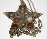 JOY444 PENDANT. METAL AND SEMIPRECIOUS STONES. POSSIBLY BERBER. EARLY 20th CENT.