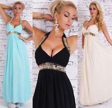 Halter Neck Patternless Backless Dresses for Women