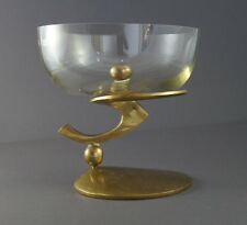 Designer Tafelaufsatz - Bronze massiv, Schale aus Glas (# 4711)
