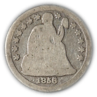 1856-O Seated Liberty Dime - Widely Recut Date Great Deals - BBTE2656