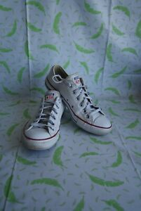 Converse Chuck Taylor All Star OX 132173C Leather Men Trainers White Ladies UK 6