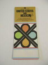 Stamped 1981 Gousha United States & Mexico Travel Road Map~Box G9