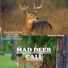 CD GAME CALL, DEER  HUNTING, DEER CALLS, DOE BLEAT, RATTLING, BUCK GRUNT!+ MORE