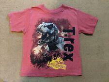 Boys Jurassic World T Shirt Sz 4/5 XS T Rex Dinosaurs Raptor The Beast is Back!