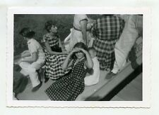 1960s vintage  photo Girl on boat Disneyland Anaheim CA