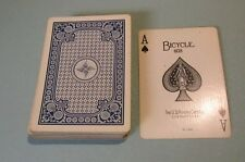 Vintage Bicycle 808 US Playing Card Company Deck 4 Blue Racer Back Corner Bikes