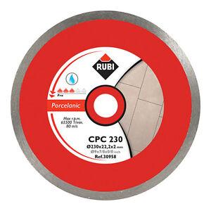 Rubi CPC 180mm Diamond Blade Saw Porcelain Cutting - 30955