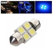 "2 x Blue 31mm LED 6428 DE3175 4-SMD 1.25"" Dome Map Festoon Interior Light Bulbs"