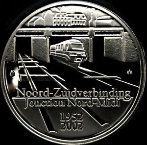 2002 Belgium Silver Proof 10 euro-Train/King