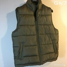 "Womens Gap Green Sleeveless Puffer Jacket Vest Gilet Size L P-P 25"" Length 27"""