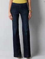 NWT Ann Taylor LOFT Dark wash Flare leg Glamour women's Trouser Jeans