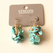 New Chicos Turquoise Beads Cluster Drop Earrings Gift Fashion Lady Party Jewelry