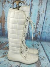 The North Face White Primaloft Quilted Lace Up Fleece LiningWinter Boots Size 8