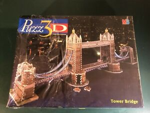 """Puzz 3D """"TOWER BRIDGE"""" 819 piece puzzle. By MB Games 1997. New & Sealed."""