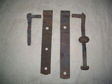 """Vintage Antique 9"""" Barn Door/Gate Strap Hinges w/Screw Pins Pintles, 1 Pair"""