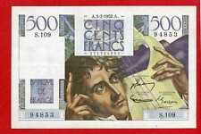 ( Ref: S.109) 500 FRANCS CHATEAUBRIAND 3/07/1952 (SPL)