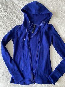 Womens Lorna Jane Cobalt Blue Merino Wool Activewear Jacket Great Condition