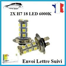 2x Ampoule H7 18 LED 3528 SMD BLANC 6000K Xenon Lampe Feux Phare 36W Tuning Opel