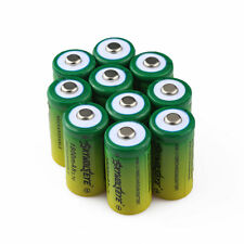 10pcs SKYWOLFEYE 16340 CR123A 3.7V 1800mAh Rechargeable Li-Ion Battery Batteries