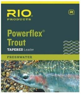 Rio Powerflex Trout Leader, 9-ft, Single and 3-Pack