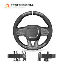 PU Carbon Fiber Suede Leather Steering Wheel Cover for Dodge Challenger Charger