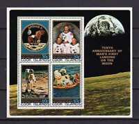 16400) Cook Isl. MNH New 1979 Moonlanding Anniversary S/S