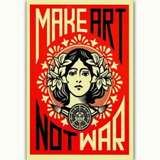 58684 MAKE NOT WAR Vintage Wall Print POSTER Affiche