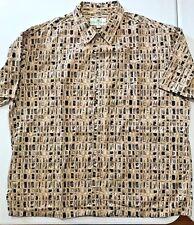 """Island Shores Original Island Wear MEN'S Button Up SS Shirt XXL 54"""" Chest"""