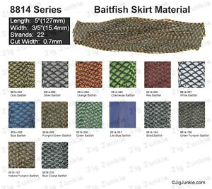 SILICONE SKIRT TABS/MATERIAL - 8814 Baitfish Series