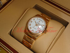 Rolex Day-Date President 36mm Rose Gold Oyster Bracelet White Roman Domed 118205