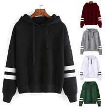 New Womens Ladies Long Sleeve Hoodie Sweatshirt Hooded Pullover Tops Blouse Coat