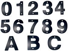 House Numbers Door Numbers Door Numerals Matt Black 1 2 3 4 5 6 7 8 9 0 A B C