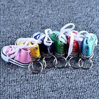 Multi-Color Canvas shoes key buckle Mini Shoe Key Chain Kids Party Hot