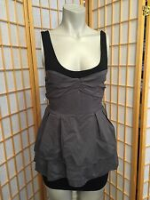 Twenty One Gray Black Short Mini Dress Womens Junior  Size S