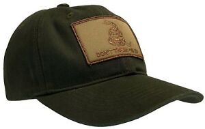 Don't Tread On Me 'Dad' Cap 100% Unstructured Cotton Hat OD Green and Khaki