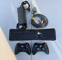 Microsoft Xbox 360 S with Two Controllers, AV/HDMI Cables, Power Supply