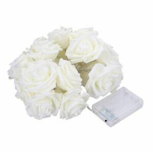 LED Rose Flower Fairy String Lights Battery Garland For Christmas Valentine