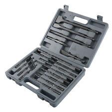 Set Of 17 Pc Sds Plus Rotary Hammer Bits Drill Bit Amp Chisel Groove Concrete Box