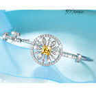 18K WHITE GOLD FILLED MULTICOLOUR CRYSTAL BANGLE KEY WIRE BRACELET SMALL
