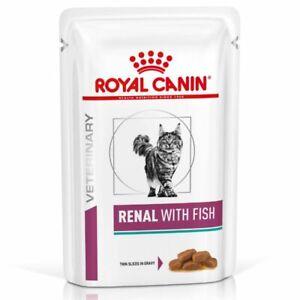 Royal Canin Veterinary Diet Feline Renal Tuna Chicken Beef Wet Cat,48x85g Pouch