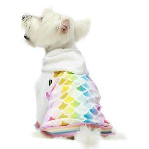 Fitwarm Mermaid Dog Hoodies Clothes Hooded Warm Coat Pet Sweatshirts Cat Jackets