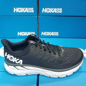 NEW Hoka One One CLIFTON 7 1110508/BWHT - Black/White Running Shoes For Men's