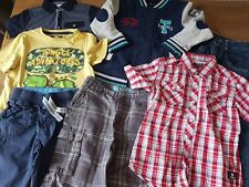 Boys Age 4-5 Summer Bundle Shorts T-shirt Shirt Jeans Fleece 7 items