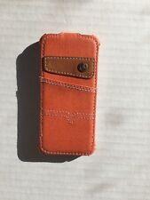 Texas Denim funda de teléfono 100% Premium Denim Para Iphone 5/5s - Naranja
