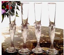 """ERTE"" Champagne Flutes Majestique By Erte: 1 set of Two"